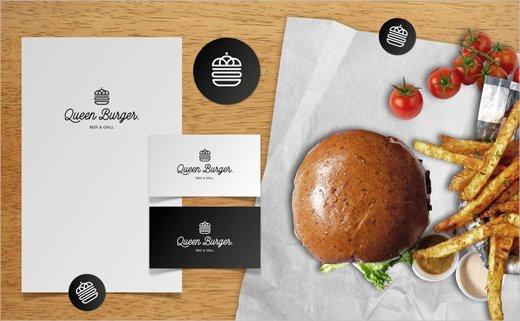 Queen-Burger-logo-design-branding-identity-LANGE-LANGE-13