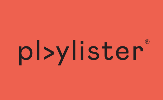 Playlister Reveals New Logo and Identity by Studio Output