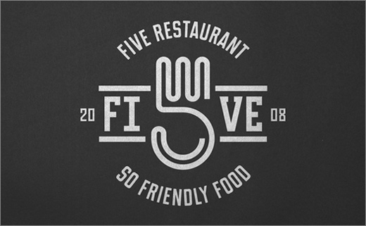 Rebranding for 'Five Restaurant' by Dmowski & Co.