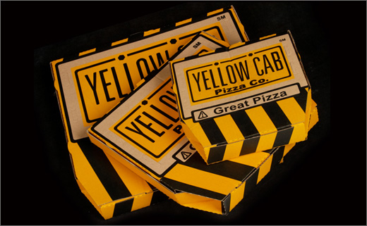 Identity Design for the 'YELLOW CAB Pizza Co.'