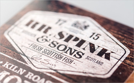 Branding and Packaging for Fish Brand, 'RR. Spink & Sons'