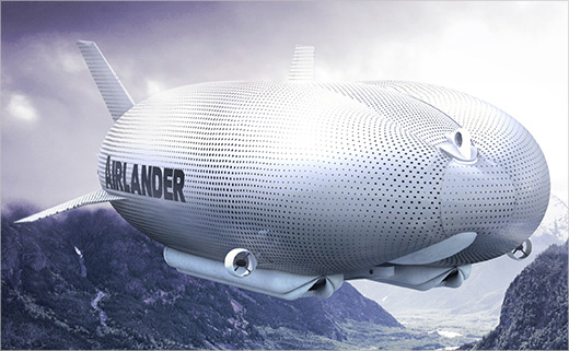 Branding and Identity Design for 'AIRLANDER' Airship