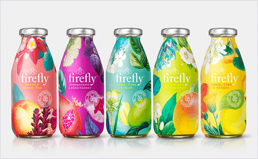 Firefly Drinks Get Rebranded Packaging by B&B studio