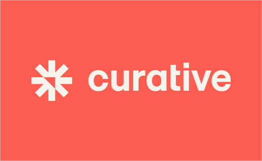 COVID-19 Startup Curative Gets New Logo and Identity by Landscape
